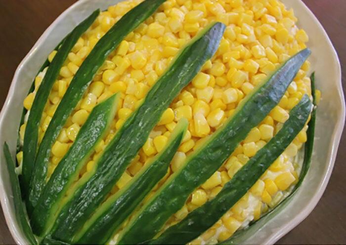 салат кукурузка